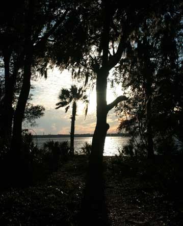 Cumberland Island National Seashore, sunset on inland waterway