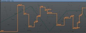 Mandibles - pitch mapping screen in Logic